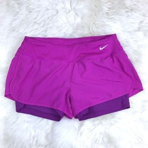 Nike Pink Purple Dri Fit Perforated Rival Shorts